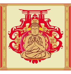 Buddha - abstract background beautiful ornament vector