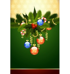 Fir tree and mistletoe vector