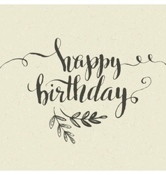 Happy birthday hand-drawn card vector