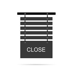 Close signboard vector