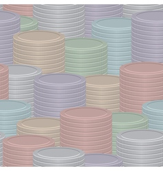 Coin stack background vector