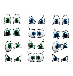 Set of cartoon eyes showing various expression vector