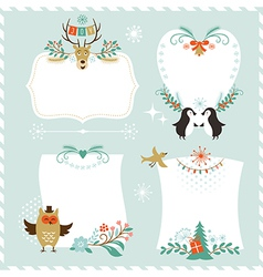 Christmas banners set vector