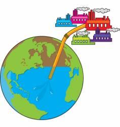 Earth losing water vector