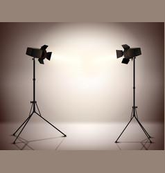 Standing spotlights background vector
