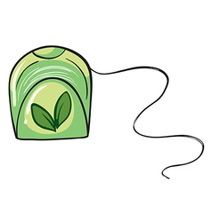 A green floss holder vector