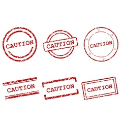 Caution stamps vector