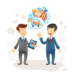 Businessman social chat vector