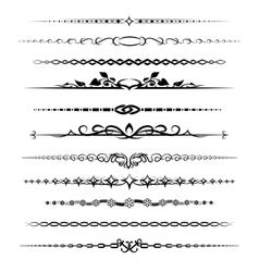 Chapter dividers set vector