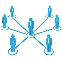 Business teamwork vector