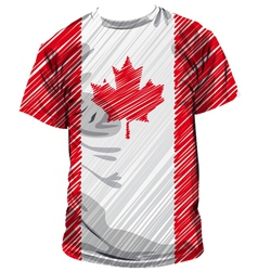 Canadian tee vector