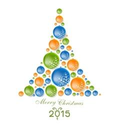 Creative concept fir tree from christmas balls vector