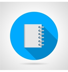 Flat icon for notebook vector