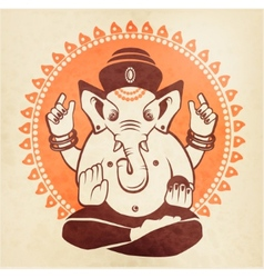Indian god ganesha on a beige background vector