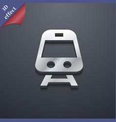 Train icon symbol 3d style trendy modern design vector