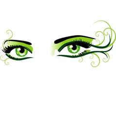 Eyes green vector