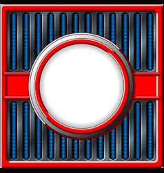 Chrome retro frame vector