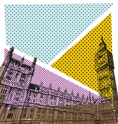 London cityscape drawing vector