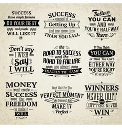 Success quotes set vector