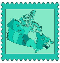Canada on stamp vector