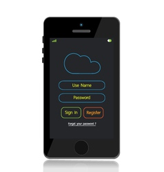 Mobile phone cloud login vector