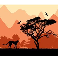 Wild african animals vector