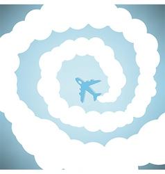 Rocket on sky blue color vector