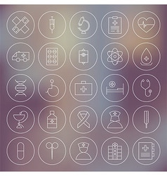Medical circle health care icons set vector