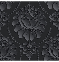 Damask seamless pattern element elegant vector