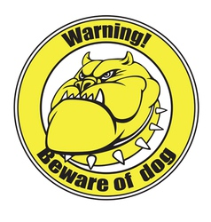 Beware of dog vector