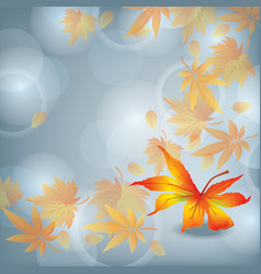 Autumn leaf fall nature background vector