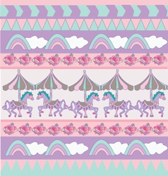 Sweet pastel pattern vector