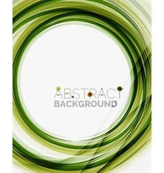 Green eco nature wave background vector
