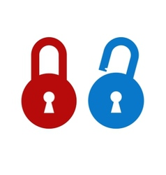 Lock unlock icon vector