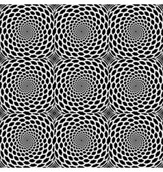 Design seamless monochrome spiral movement pattern vector