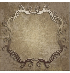 Beautiful frame on vintage background vector