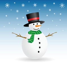 Snowman winter color vector