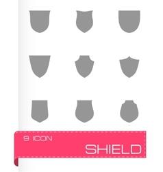 Shield icon set vector