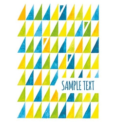Watercolor triangular background vector