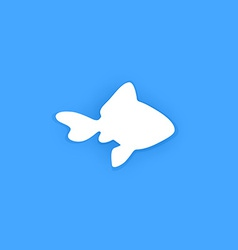Silhouette of goldfish vector