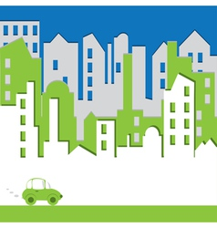 Cityscape abstract vector