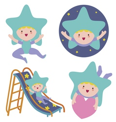 Baby star cute character vector
