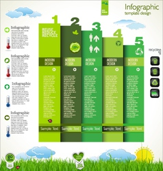 Modern ecology design layout vector