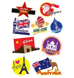 Travel sticker vector