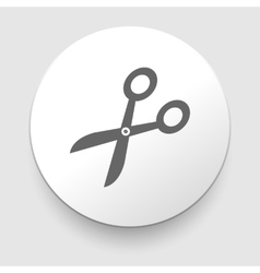 Scissors symbol isolated vector