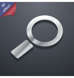 Magnifier glass icon symbol 3d style trendy modern vector