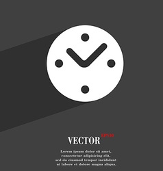 Mechanical clock icon symbol flat modern web vector