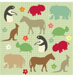Abstract natural animal vector
