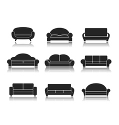 Modern luxury sofas and couches vector