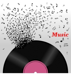 Retro music concept vector